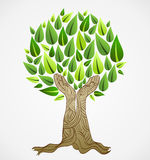 Green concept tree royalty free illustration