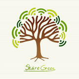 Green concept tree Royalty Free Stock Images