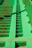 Green concrete stairs stairway with railing. Royalty Free Stock Image