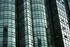 Green condo windows background Royalty Free Stock Photography