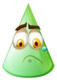Green cone with sad face Royalty Free Stock Photos