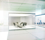 Green conference interior Stock Photography