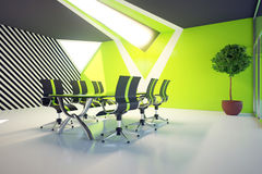 Green conference room with daylight Royalty Free Stock Photos