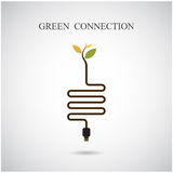 Green connection concept. Green environment sign Stock Photos