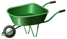 A green construction cart Stock Photos