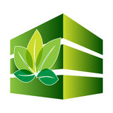 Green construction with leaf. Symbol royalty free illustration