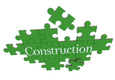 Green Construction puzzle Royalty Free Stock Photography
