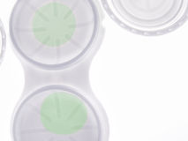 Green contact leses. A close up of a green contact lenses royalty free stock image