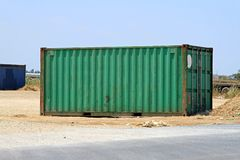 Green container Royalty Free Stock Photo
