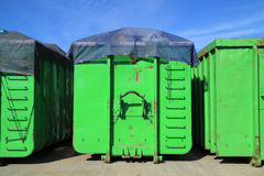 Green containers Stock Image