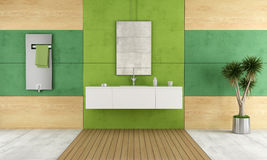Green contemporary bathroom Stock Photos