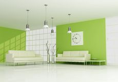 Green contemporary interior Stock Photos