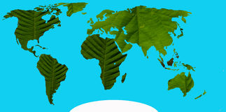 Green continents royalty free illustration