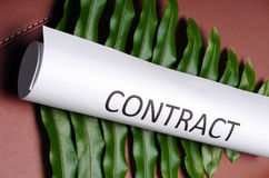 Green contract Stock Photos