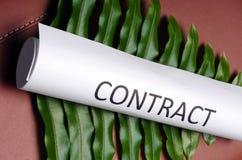 Green contract Stock Photos