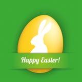 Green Convert Banner Egg Happy Easter Stock Images