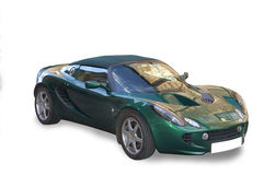 Green Convertible Sports Car. Green lotus sports car with the convertible top on Stock Photography
