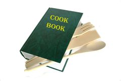 Green cook book Royalty Free Stock Photography