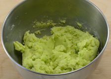 Green cookie dough Stock Image