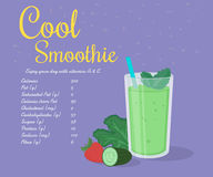 Green cool smoothie Stock Images