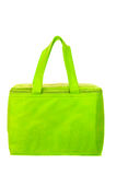 Green cooling bag with zipper Royalty Free Stock Images