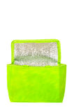 Green cooling bag with zipper Stock Images