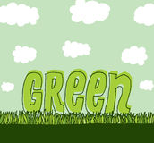 Green with copyspace / Clean environment Stock Photos