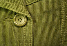 Green corduroy 2. Clothing details Royalty Free Stock Photos