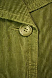 Green corduroy 4. Clothing details Royalty Free Stock Image
