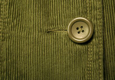 Green corduroy 7. Clothing details Stock Photos