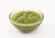 Green coriander sauce Stock Photos