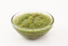 Green Coriander Sauce Stock Photos