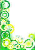 Green corner (circles). Illustration background: green corner (circles Royalty Free Stock Photography