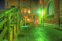 Green corner in Venice, Italy Royalty Free Stock Photography