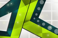 Green corners overlap, abstract background Stock Images
