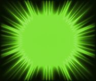 Green Corona. Abstract Background Illustration, Vector Stock Image