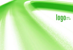 Green Corporate Background. An illustrated corporate background with an abstract wavy design in green color Stock Photo