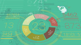 Green Corporate Background With Abstract Elements Of Infographics
