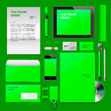 Green Corporate ID mockup Royalty Free Stock Image