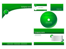 Green corporate identity Stock Photography