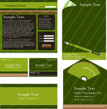 Green corporate identity design Royalty Free Stock Image