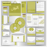 Green corporate identity template with nature style with lizard skin texture Royalty Free Stock Photo