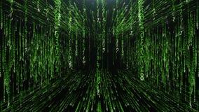 Green corridor from the matrix code. Green technology corridor from the matrix code Royalty Free Stock Photos