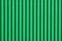 Green corrugated cardboard Stock Image