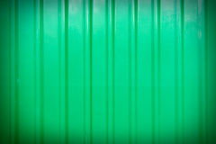 Green corrugated fence Stock Photos