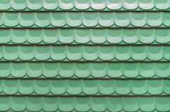 Green corrugated iron sheet background. A green corrugated iron sheet background royalty free stock photo