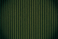 Green corrugated sheet metal Stock Image