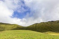 Green Corvo Pastures and Sky