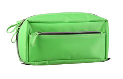 Green cosmetic bag Royalty Free Stock Images