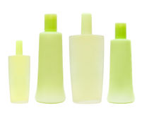 Green cosmetic bottle Royalty Free Stock Photography
